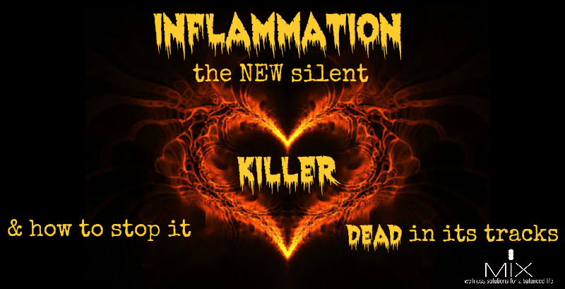 Inflammation: The NEW Silent Killer and How to Stop It Dead in It's Tracks | www.mixwellness.com #health #inflammation #diet
