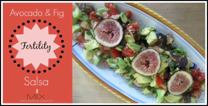 Avocado & Fig {Fertility} Salsa | www.mixwellness.com