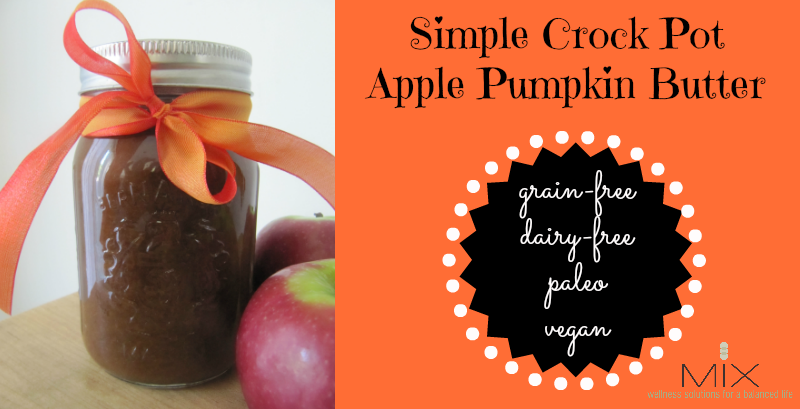 Simple Crock Pot Apple Pumpkin Butter {Grain-Free  Dairy-Free  Paleo  Vegan} | www.mixwellness.com