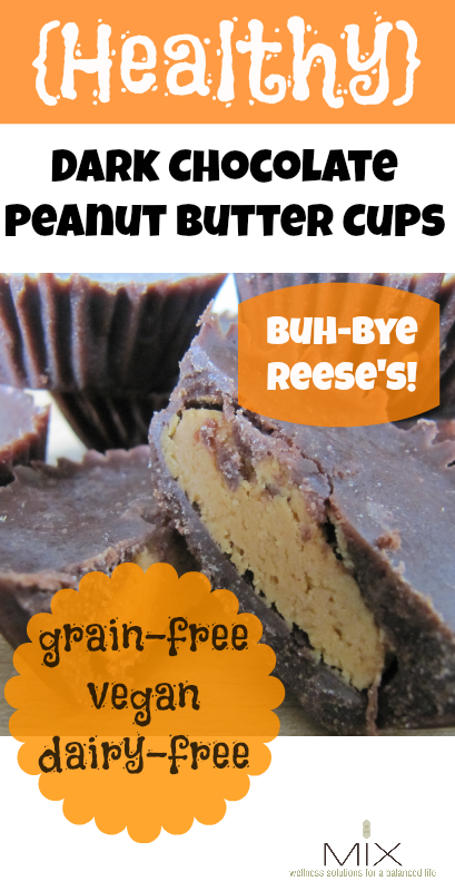 #Recipe for #Healthy Dark Chocolate Peanut Butter Cups (Grain-Free, Vegan, Dairy-Free)