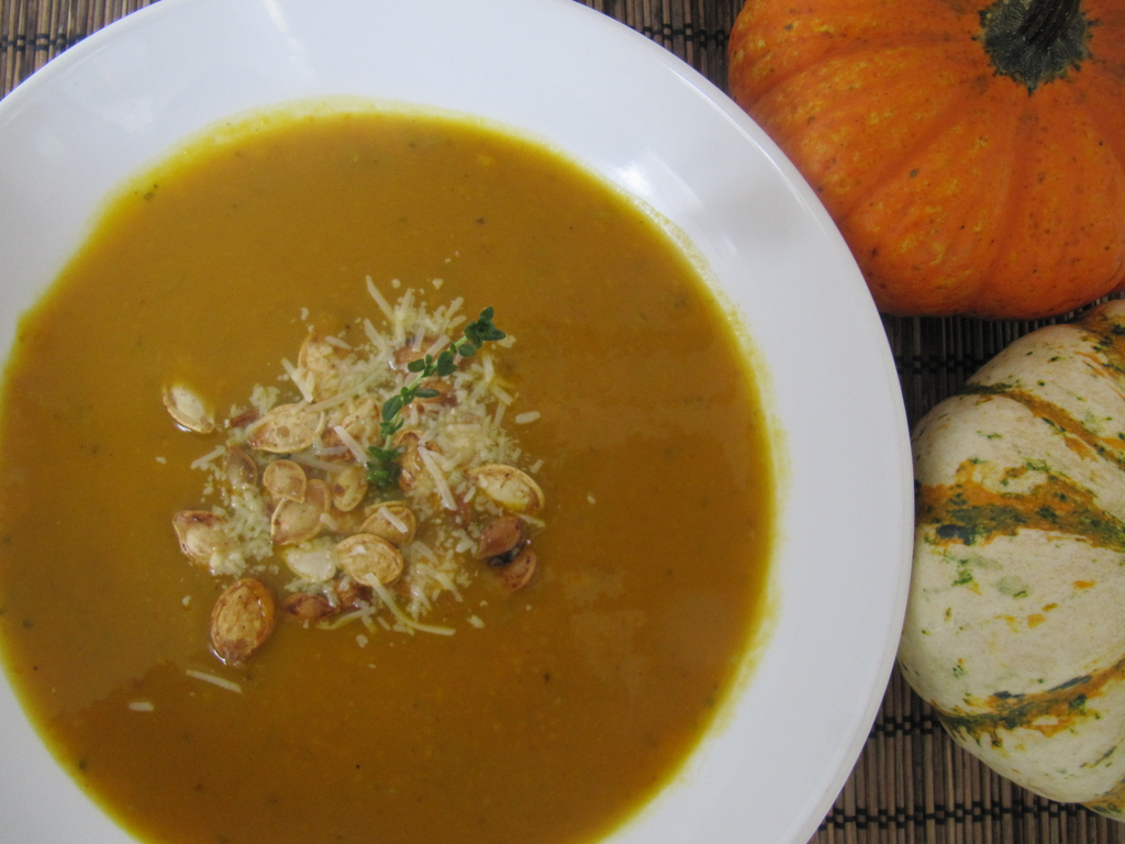 Butternut Squash & Apple Soup from For The Love Of Fiber
