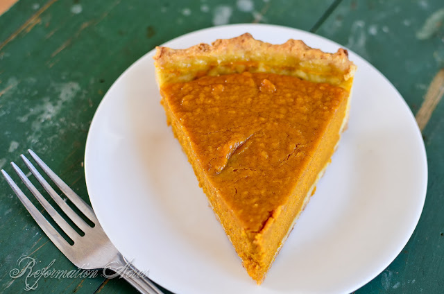 Butternut Squash Pie from Reformation Acres