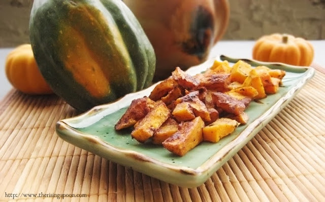 Roasted Butternut Squash (Seasoned Two Ways) from The Rising Spoon