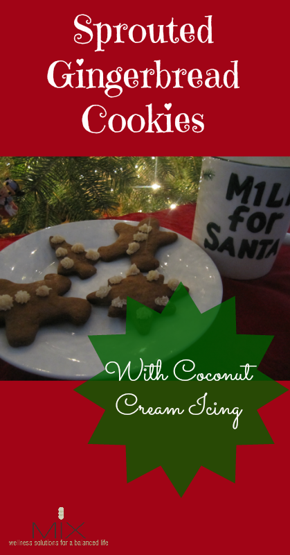 Sprouted Gingerbread Cookies with Coconut Cream Icing   www.mixwellness.com
