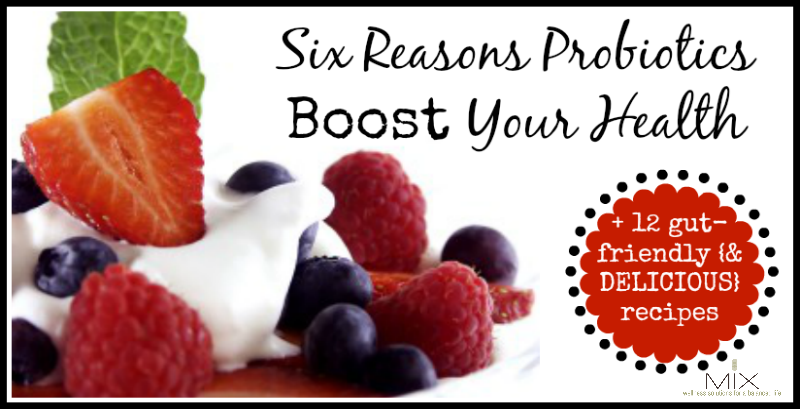 Six Reasons Probiotics Boost Your Health + 12 Gut-Friendly {& DELICIOUS} Recipes | www.mixwellness.com