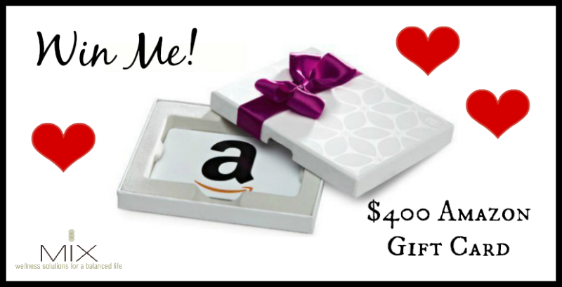 $400 Amazon Gift Card Giveaway | www.mixwellness.com