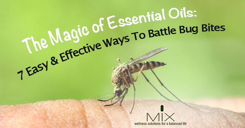 The Magic of Essential Oils- 7 Easy & Effective Ways To Battle Bug Bites | www.mixwellness.com