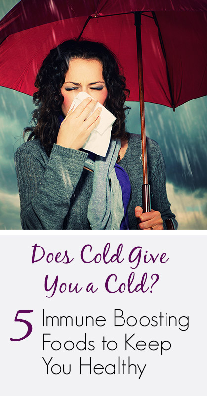 Crushing the Myth - Does Cold Give You a Cold? + 5 Immune-Boosting Foods to Keep You Healthy | www.mixwellness.com