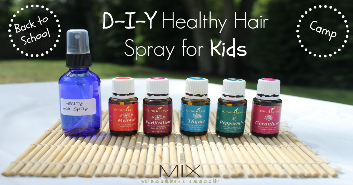 Prevent head lice #naturally with this #DIY hair spray for #kids!