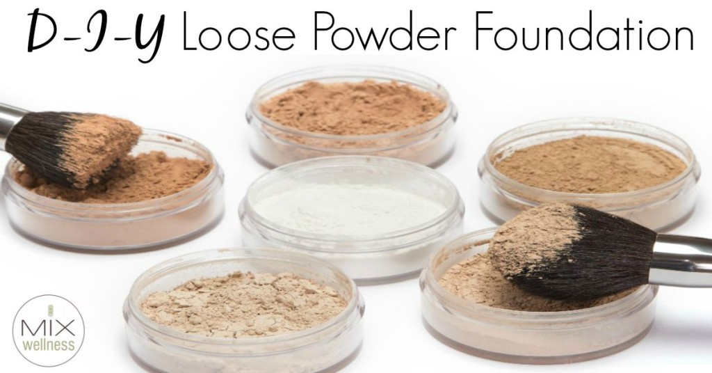 Learn how to make #healthy & inexpensive DIY makeup #DIY loose powder foundation