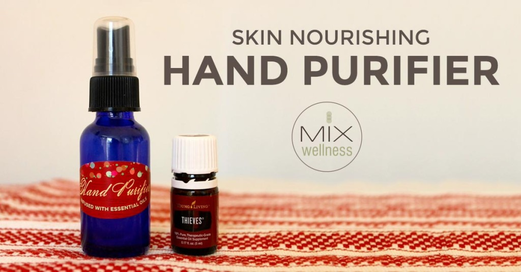 Easy #DIY tutorial for non-toxic #hand #purifier with essential oils from #MIXWellness