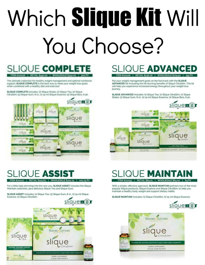 which slique kit will you choose - mix wellness